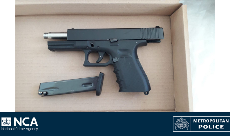 Loaded pistol, ammo and cash seized in North London