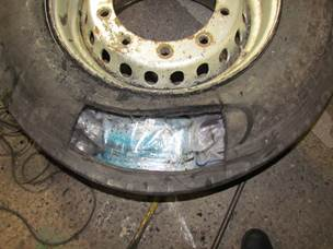 100kgs of cocaine discovered in spare lorry wheels