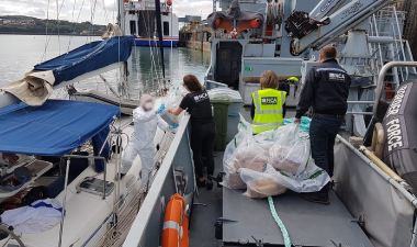 Drugs being removed from boat