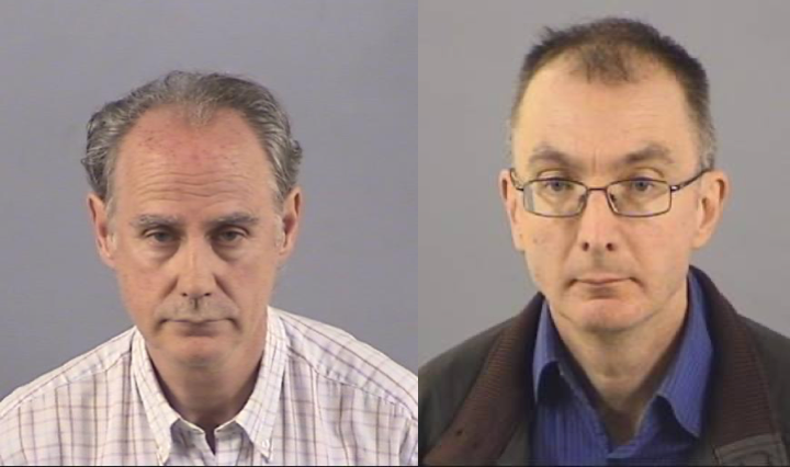 Richard Townsend and Mark Metcalfe custody shots