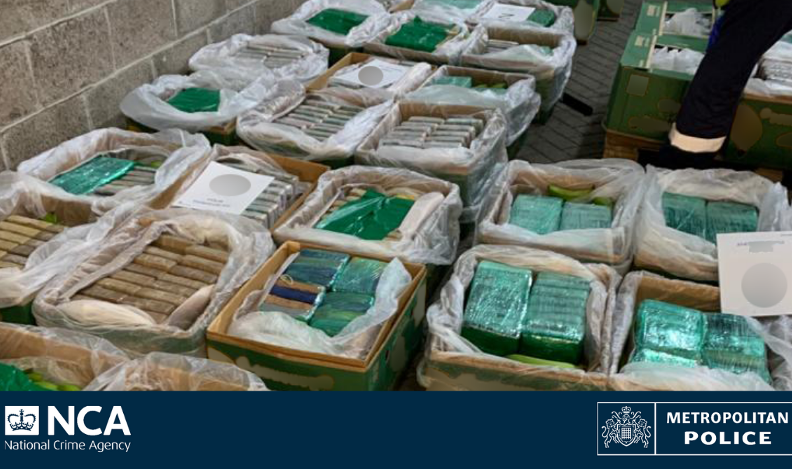 2.3 tonnes of cocaine seized before reaching UK streets