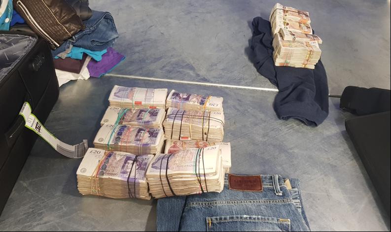 Financial investigators link cases to smash cash courier gang