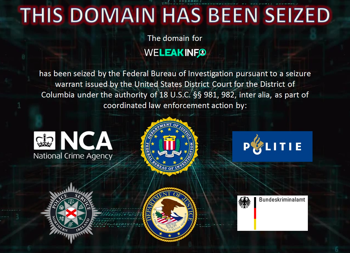 Seized weleakinfo.com website