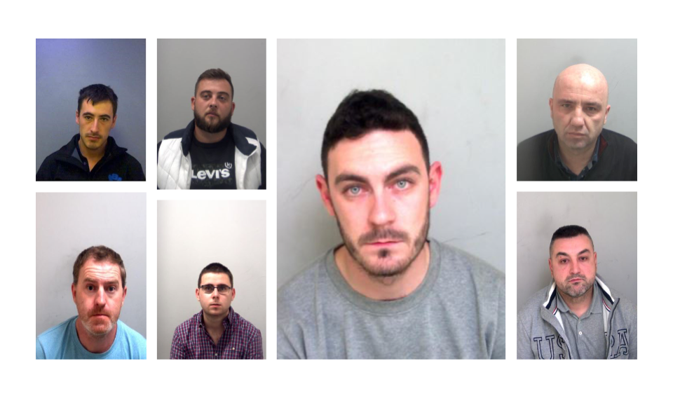 Seven convicted men