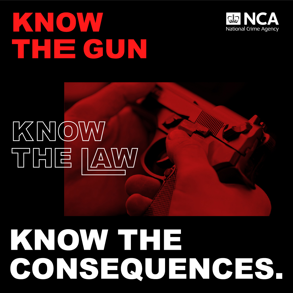 Graphic: 'Know the gun, know the law, know the consequences'