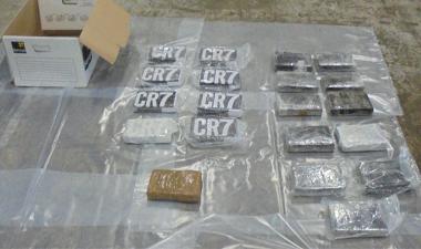 Image showing seized cocaine.