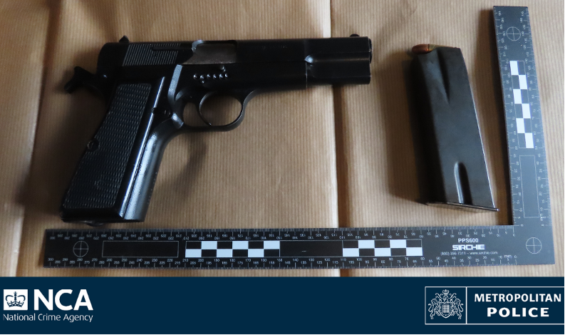 Couple arrested after loaded gun found in ottoman