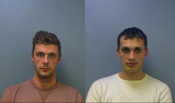Henrik Ruben and Dominic Leeman custody shots