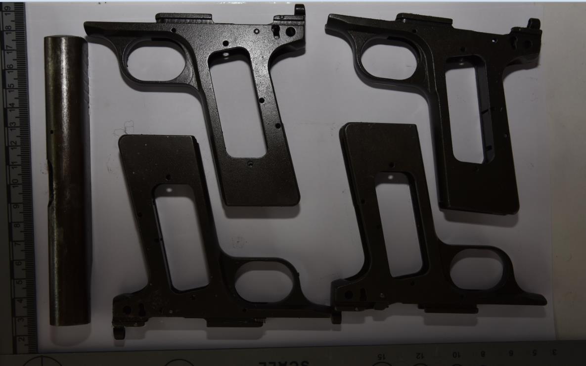 Op J Pistol frames found Unit 7