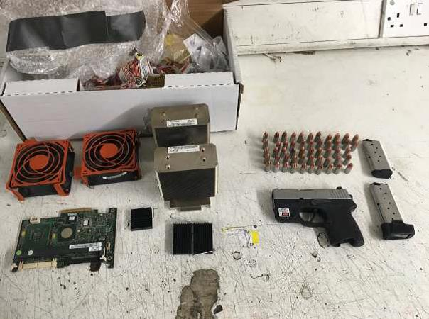 Seized firearm and ammunition