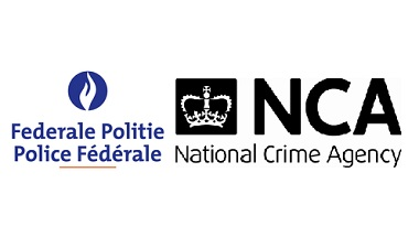 Belgian Federal Police and NCA logos