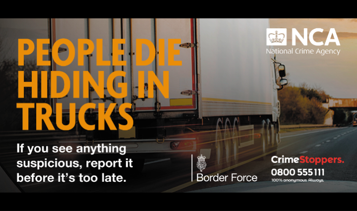 New campaign appeals to lorry drivers in crackdown on people smuggling